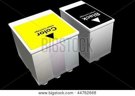 Photo of Ink Jet Cartridges (3D)