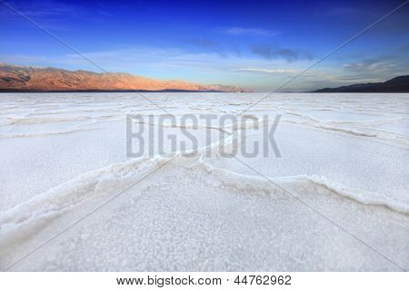 Salt Formations in Death Valley California Bad Water