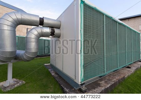 External power of large industrial cooling system.