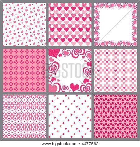 Nine Valentine Heart Patterns