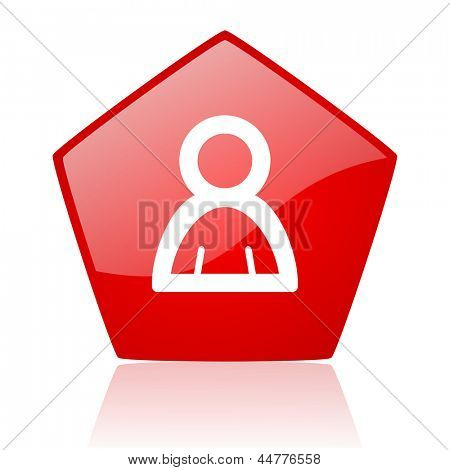 account red web glossy icon