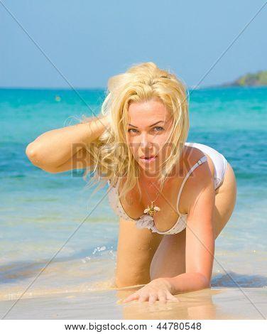 In Exotic Hideaway Posing in Paradise