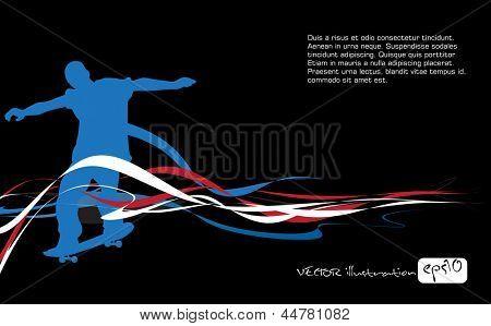 Skateboarder. Vector
