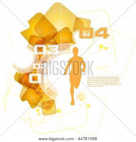Editable vector illustration of sport