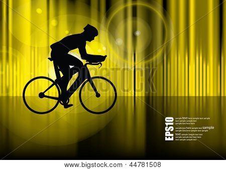 Road bike. Vector