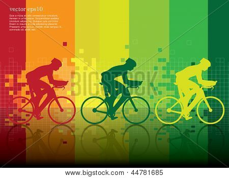 Bicycles. Vector