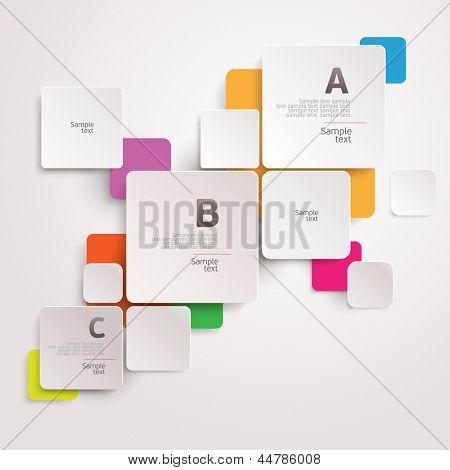 Modern colorful design