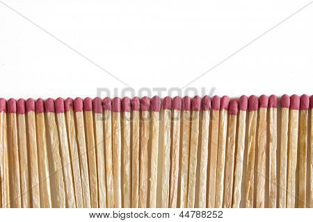 Photo of Matches aligned