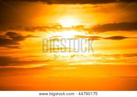 sunset photo as background