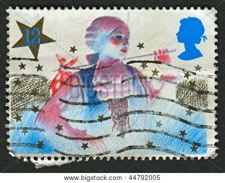 UK - CIRCA 1985: A stamp printed in UK shows image of The Christmas, circa 1985.