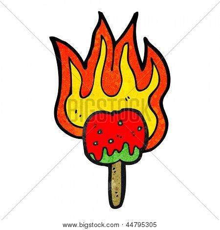 hot toffee apple cartoon