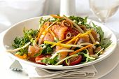 pic of rocket salad  - Smoked salmon salad - JPG