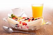 picture of banana split  - banana split fruit salad - JPG