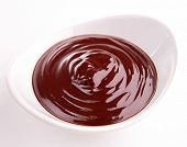 bowl of chocolate sauce