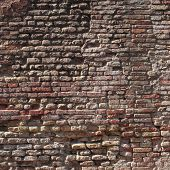 High resolution concept or conceptual old vintage brick wall background pattern.A textured surface o