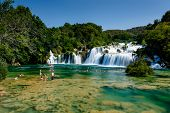 National Park Krka And Cascade Of Waterfalls On River Krka, Croatia