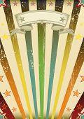 Постер, плакат: Фантастический цвет загара партия Винтажные фон с текстурой для вашей партии