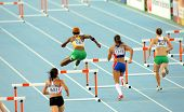 BARCELONA - JULY, 13: Competitors of 400m hurdles women during the 20th World Junior Athletics Champ