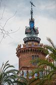 Постер, плакат: Castell ДЕЛЬЗ Трес драконов Зоологический музей в Парк де ла Ciutadella Барселона