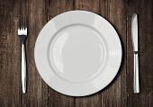 stock photo of crockery  - white plate - JPG