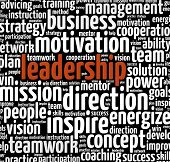 foto of mentoring  - Leadership in word collage - JPG