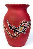 stock photo of platypus  - anonymous aboriginal art - JPG