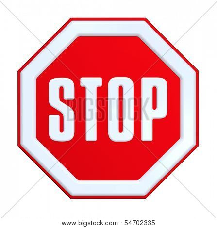 Stop sign. Computer generated 3D photo rendering
