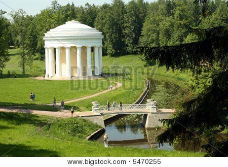 Frendship Pavillion In Pavlovsk Park