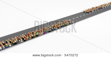 Cartoon Crowd, Road
