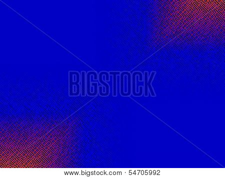 Abstract Blue Background Red Gradient