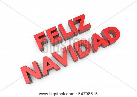 3D Computer Generated Feliz Navidad Text
