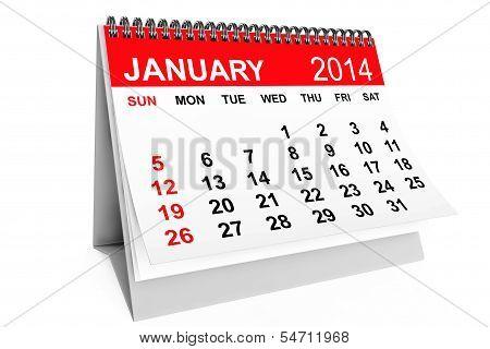 Calendario enero de 2014