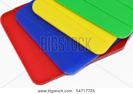 Plastic plates color sampels