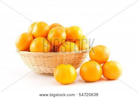 Mandarins In And Out The Basket
