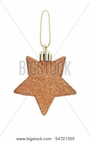 A Christmas Toy In The Form Of Stars On A White Background.