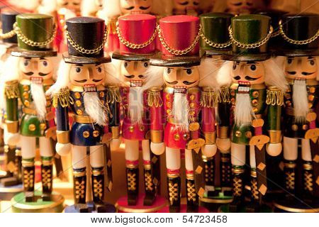 the Nutcracker souvenirs on a Christmas Market
