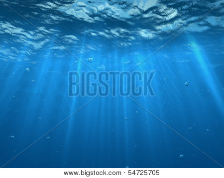 Under Water With Bubbles