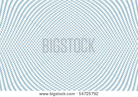 Abstract Light Background With Blue Circles Array In A Concave Shape