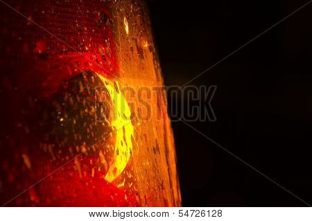Close Up Of A Taillight With Copy Space On Right