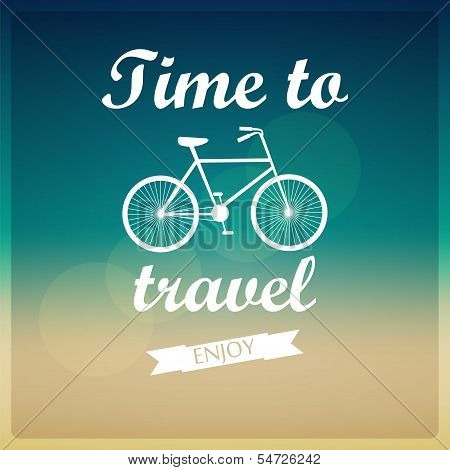 Vector Background. Time To Travel.