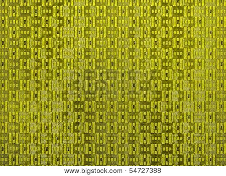 Fabric Yellow Textured Background