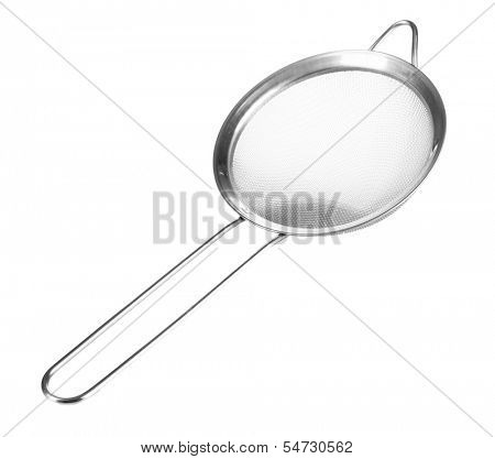 Metal sieve isolated on white