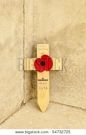Tyne Cot Cemetery Poppy Flanders Fields World War One