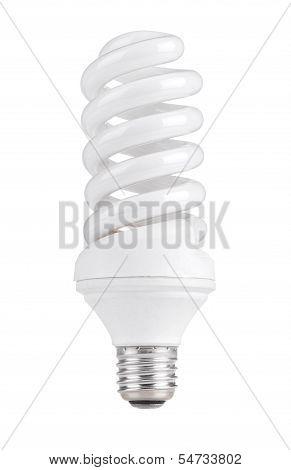 White energy saving lamp. isolated