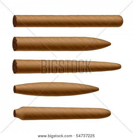 Cigar shapes. Vector.