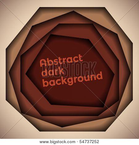 Abstract dark brown 3d background