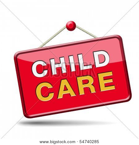 child care in daycare or cr���¨che by nanny or au pair parenting or babysitting protection against child abuse