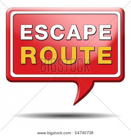escape route avoid stress and break free running away