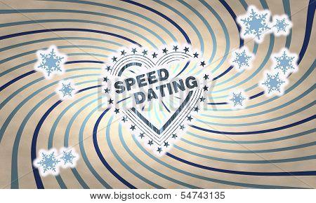 Vintage Wooden Speed Dating Symbol