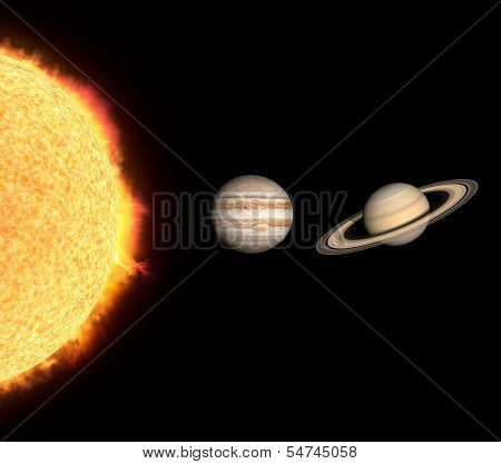 The Gas Planets Jupiter And Saturn